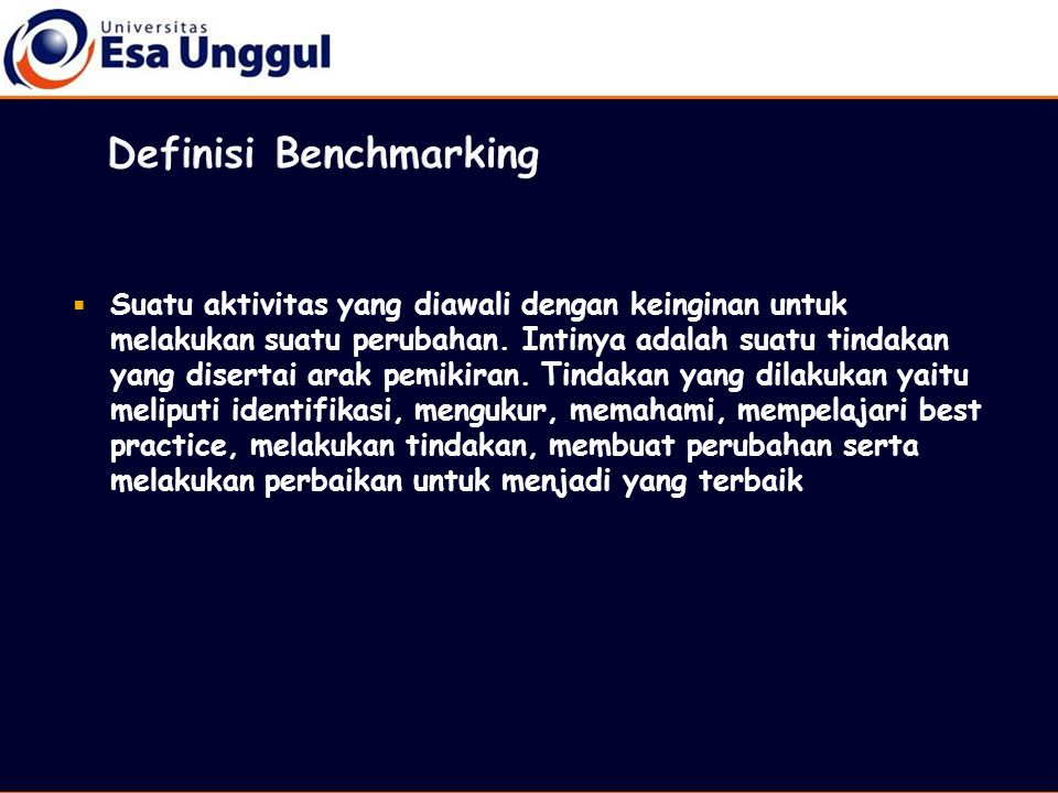 Definisi Benchmarking