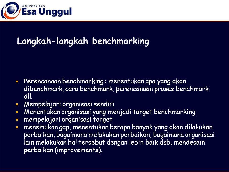 Langkah-langkah benchmarking