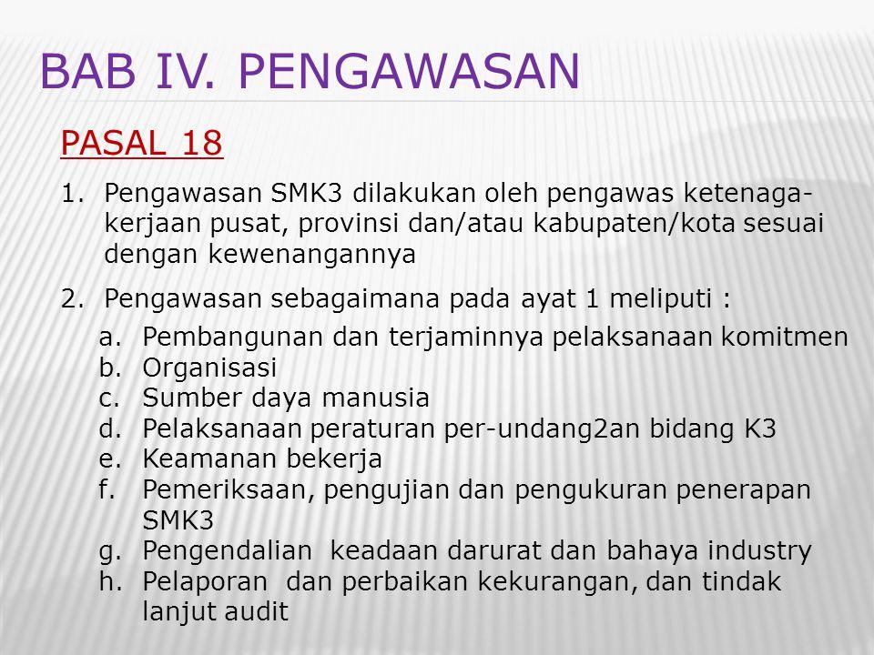 BAB IV. PENGAWASAN PASAL 18