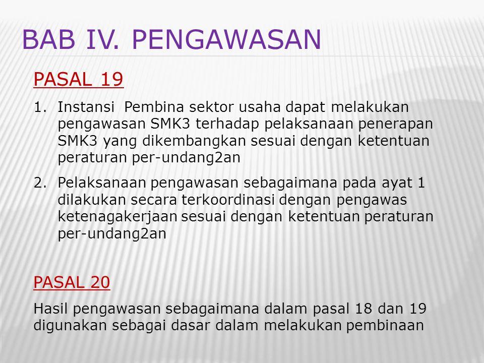 BAB IV. PENGAWASAN PASAL 19 PASAL 20