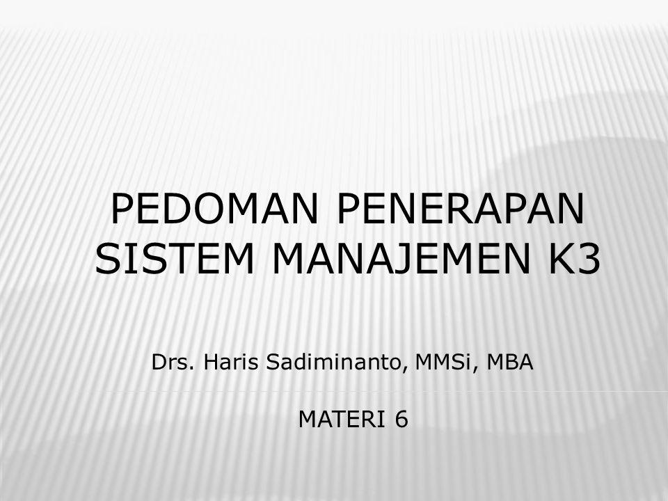 Pedoman penerapan sistem mANAJEMEN K3