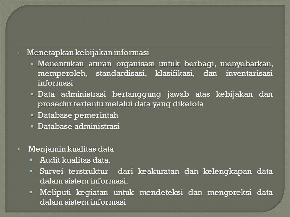 Menetapkan kebijakan informasi