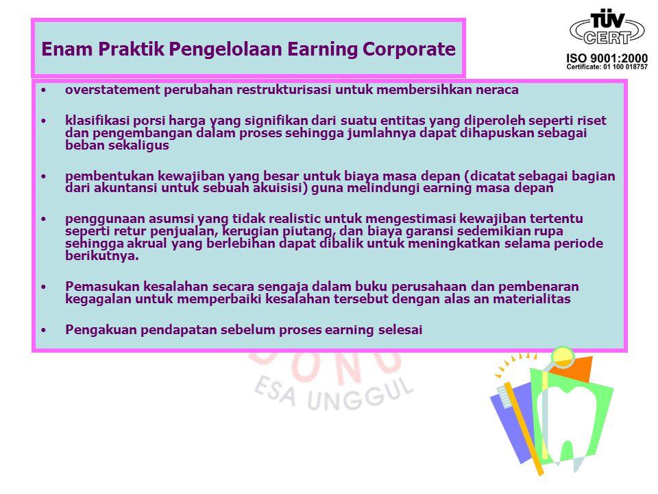 Enam Praktik Pengelolaan Earning Corporate