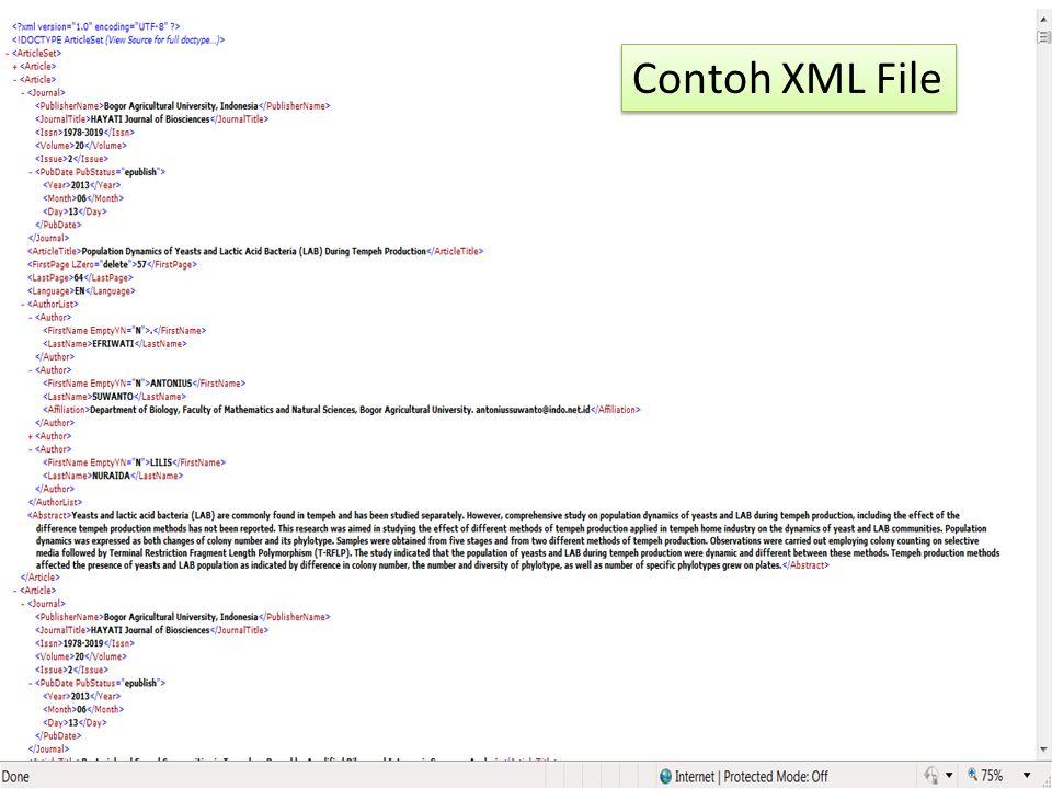 Contoh XML File