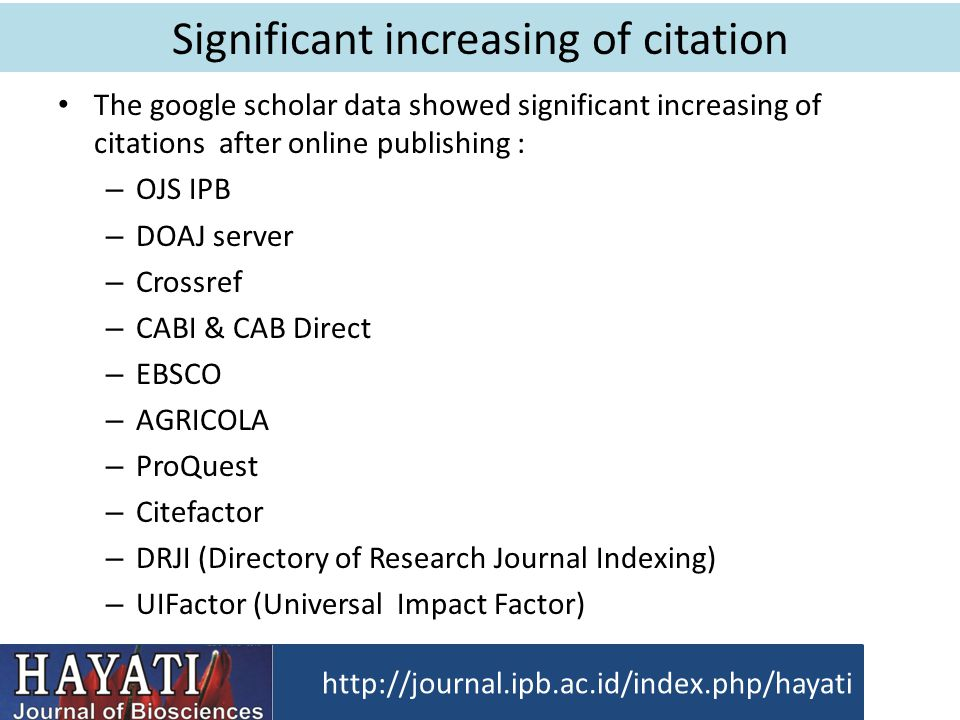 Significant increasing of citation