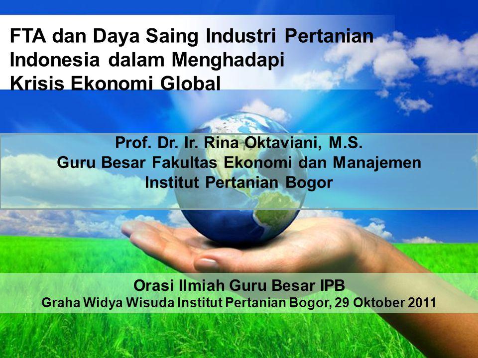 FTA dan Daya Saing Industri Pertanian Indonesia dalam Menghadapi