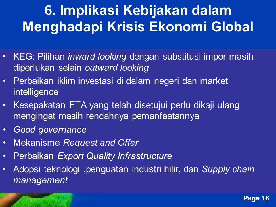 6. Implikasi Kebijakan dalam Menghadapi Krisis Ekonomi Global