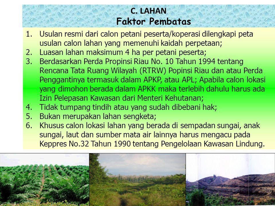 C. LAHAN Faktor Pembatas
