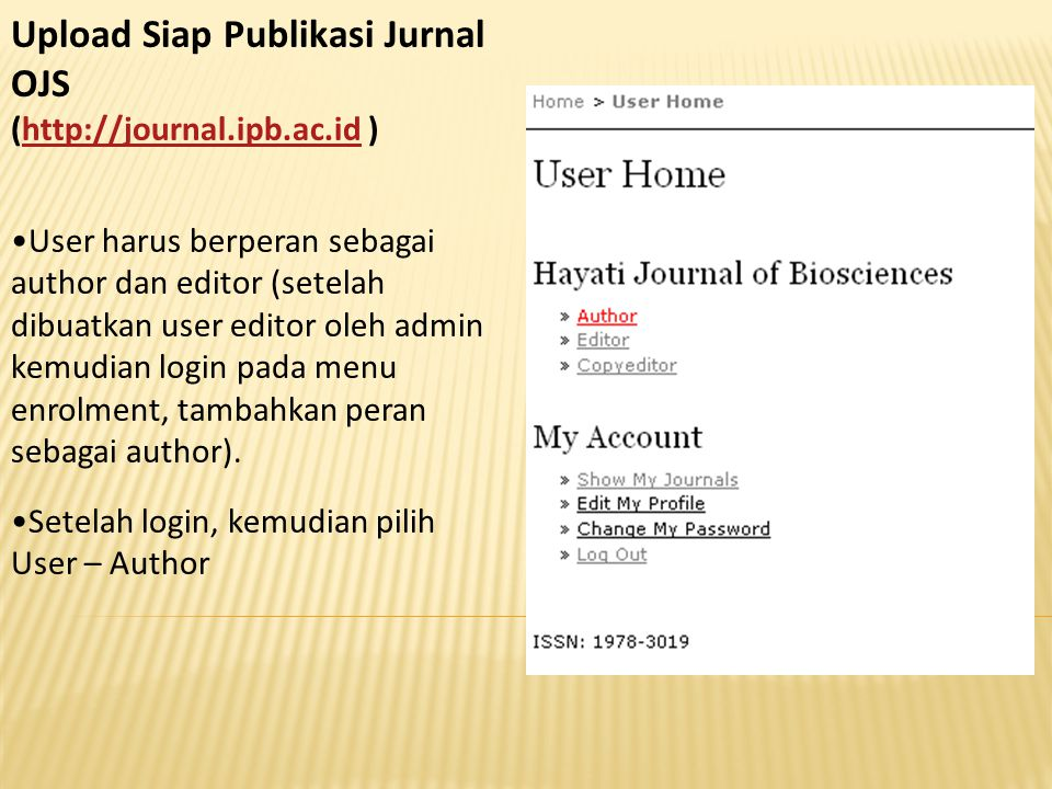 Upload Siap Publikasi Jurnal OJS