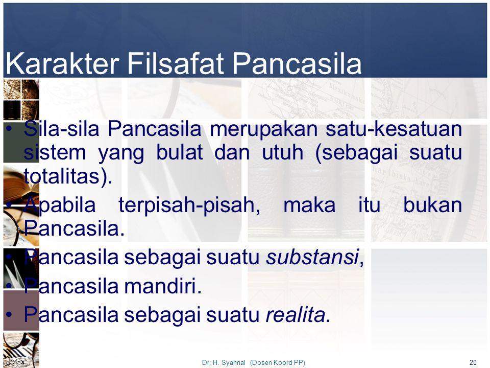 Karakter Filsafat Pancasila