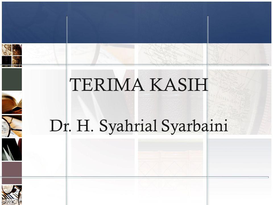 Dr. H. Syahrial Syarbaini