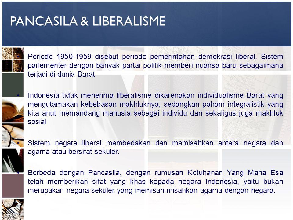 PANCASILA & LIBERALISME