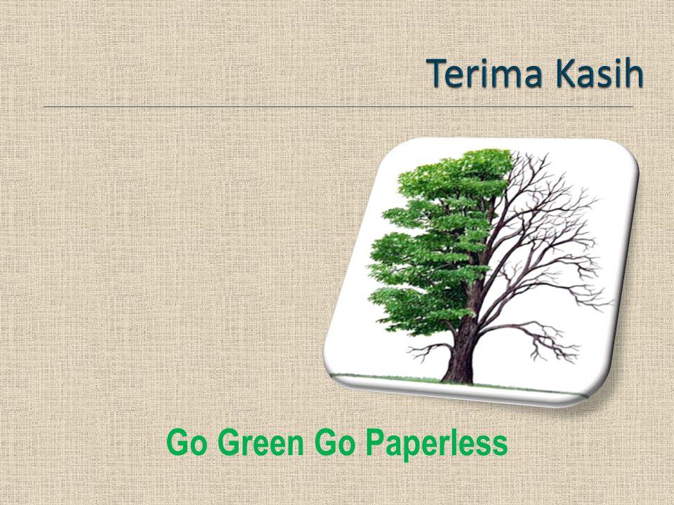 Terima Kasih Go Green Go Paperless