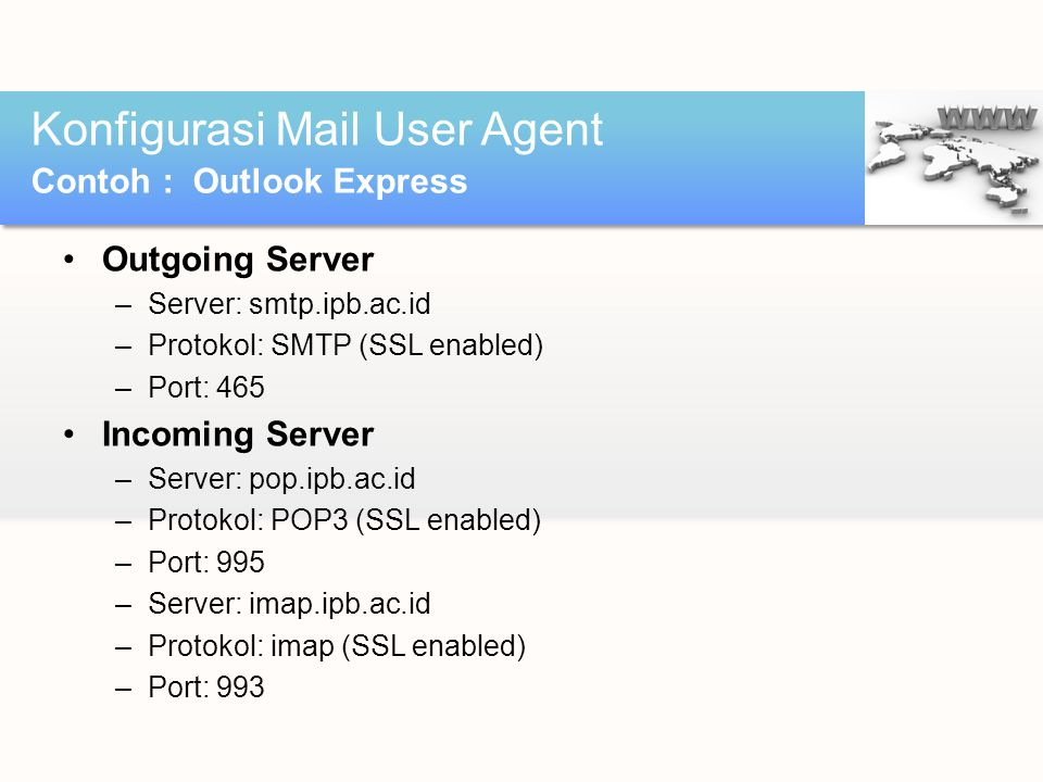 Konfigurasi Mail User Agent