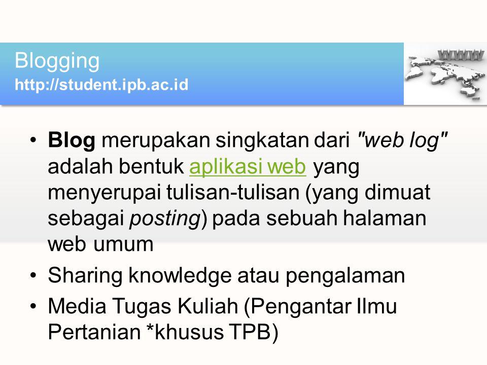 Sharing knowledge atau pengalaman