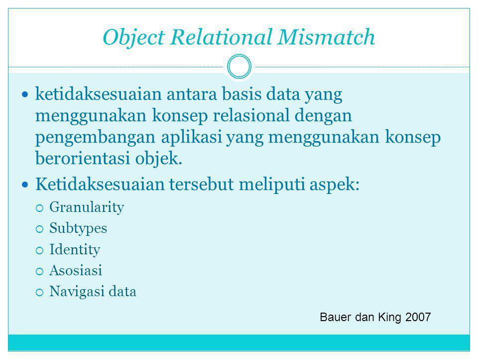 Object Relational Mismatch