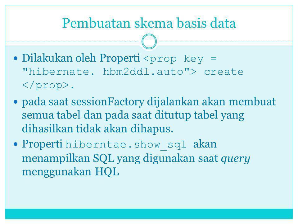 Pembuatan skema basis data