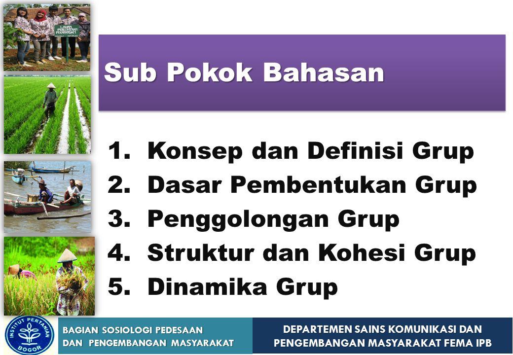 Sub Pokok Bahasan 1. Konsep dan Definisi Grup