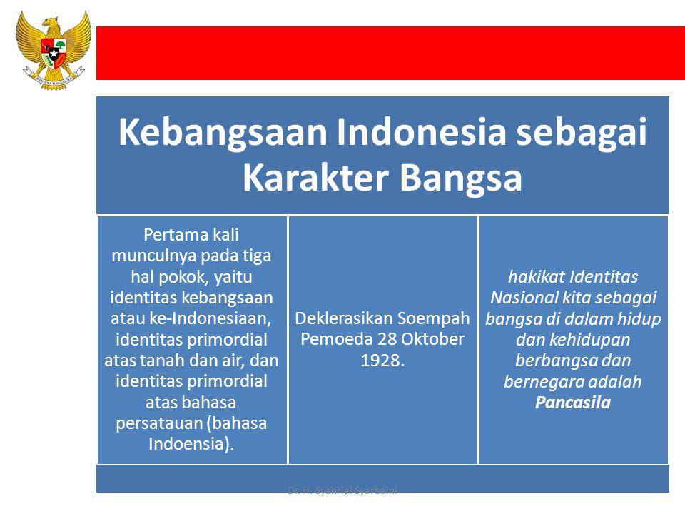 Kebangsaan Indonesia sebagai Karakter Bangsa