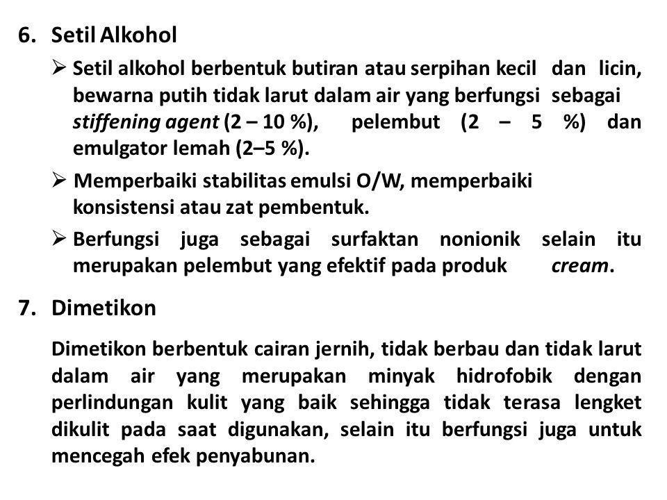 Setil Alkohol Dimetikon