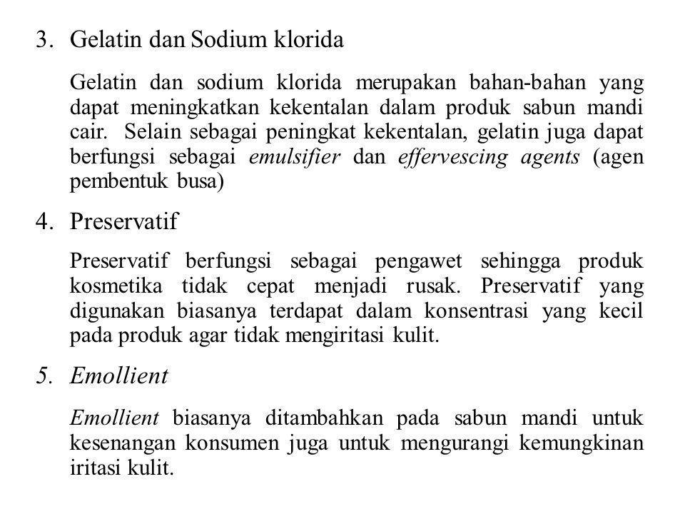 Gelatin dan Sodium klorida