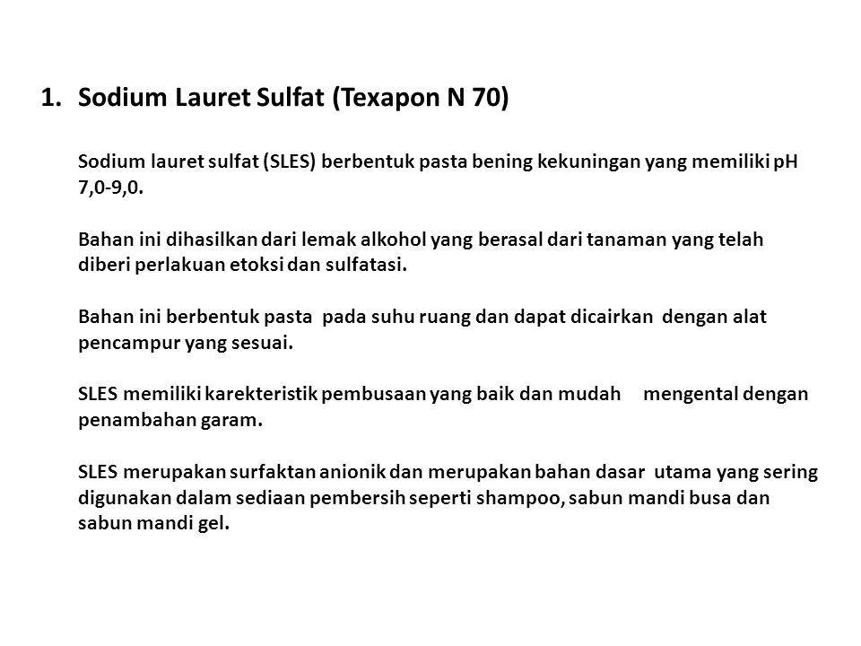 1. Sodium Lauret Sulfat (Texapon N 70)