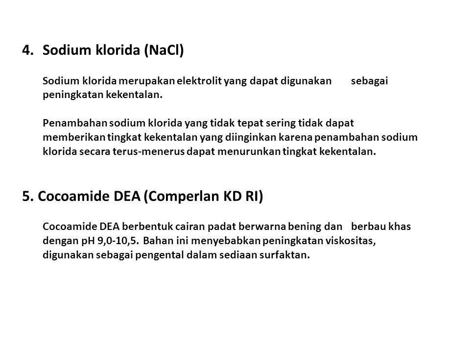 5. Cocoamide DEA (Comperlan KD RI)