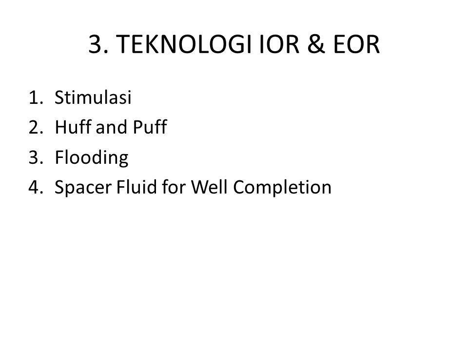 3. TEKNOLOGI IOR & EOR Stimulasi Huff and Puff Flooding