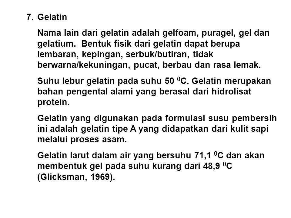 7. Gelatin