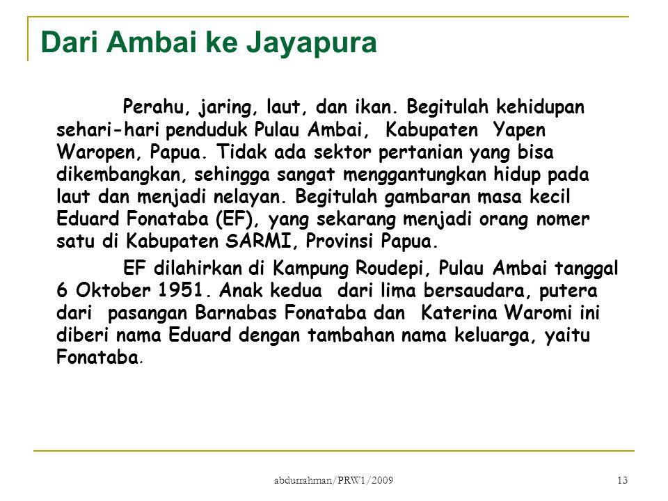 Dari Ambai ke Jayapura