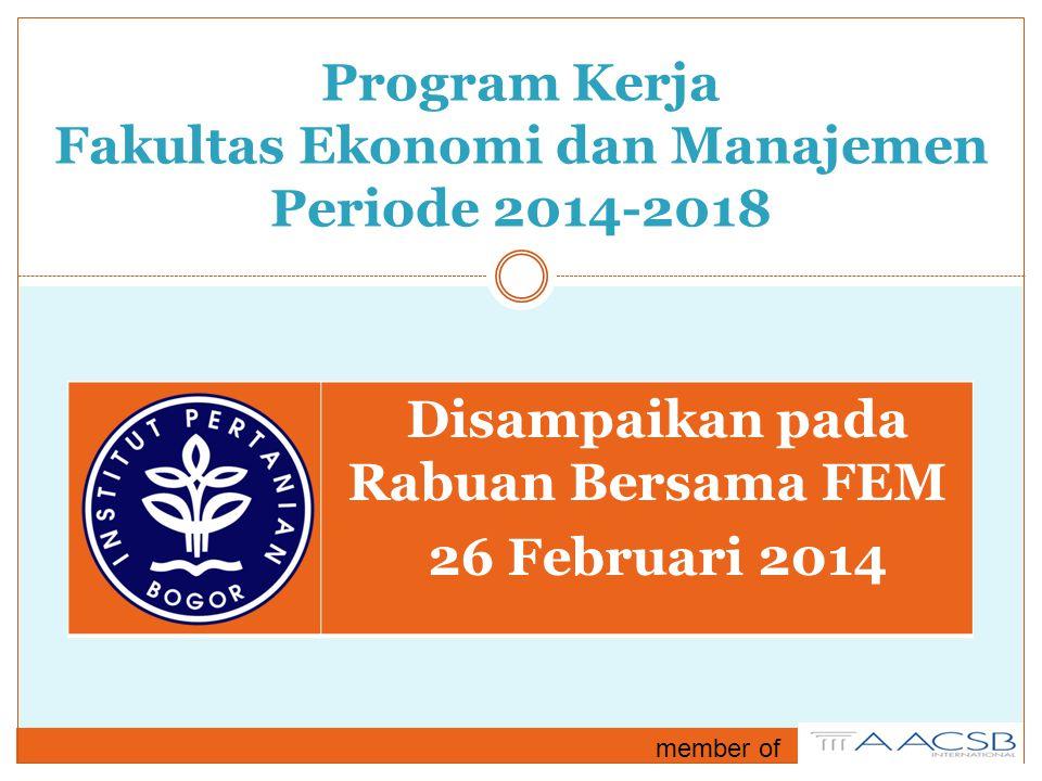Program Kerja Fakultas Ekonomi dan Manajemen Periode 2014-2018