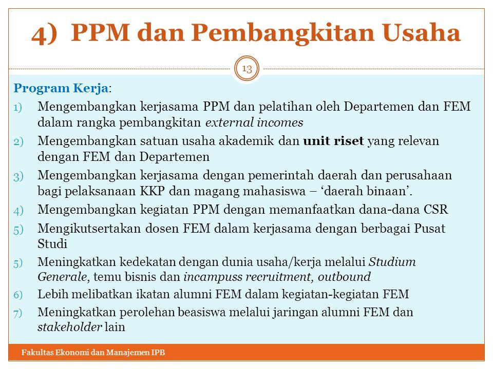 4) PPM dan Pembangkitan Usaha