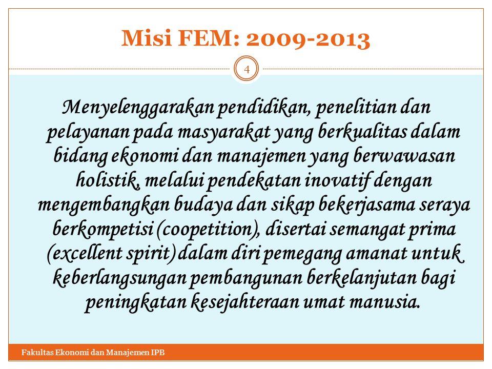 Misi FEM: 2009-2013