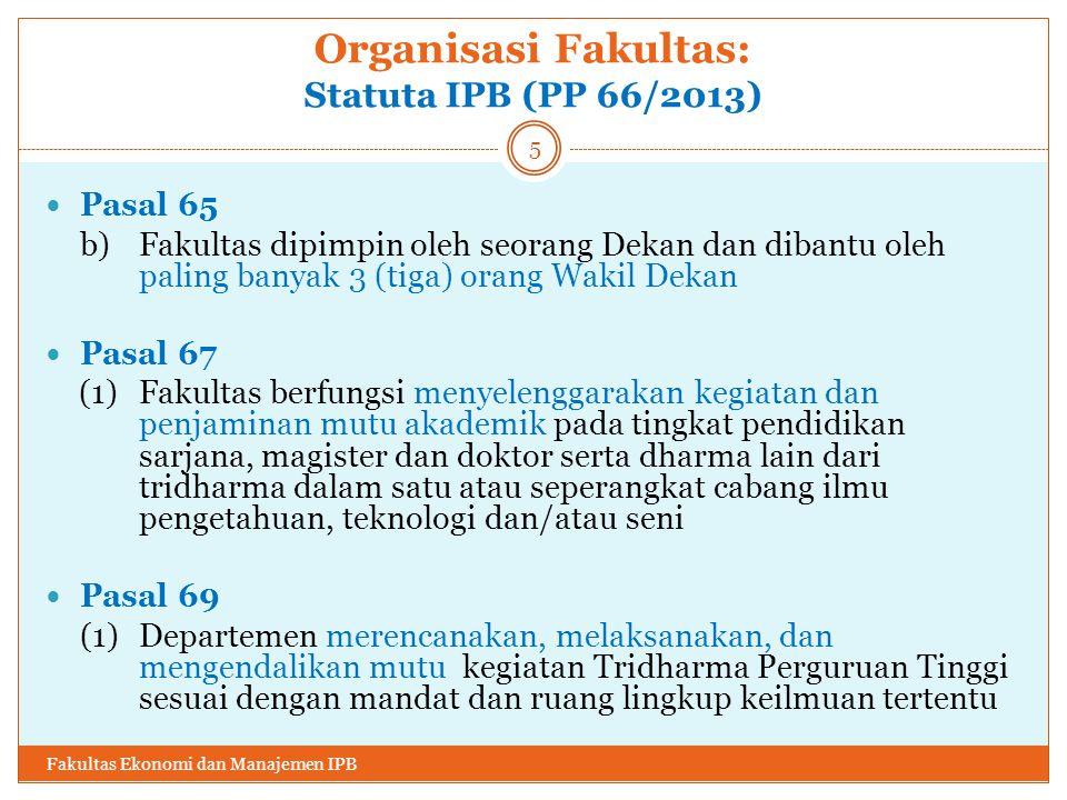 Organisasi Fakultas: Statuta IPB (PP 66/2013)