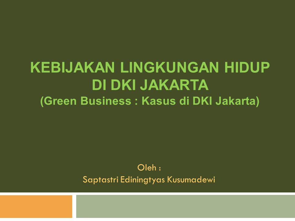 KEBIJAKAN LINGKUNGAN HIDUP DI DKI JAKARTA