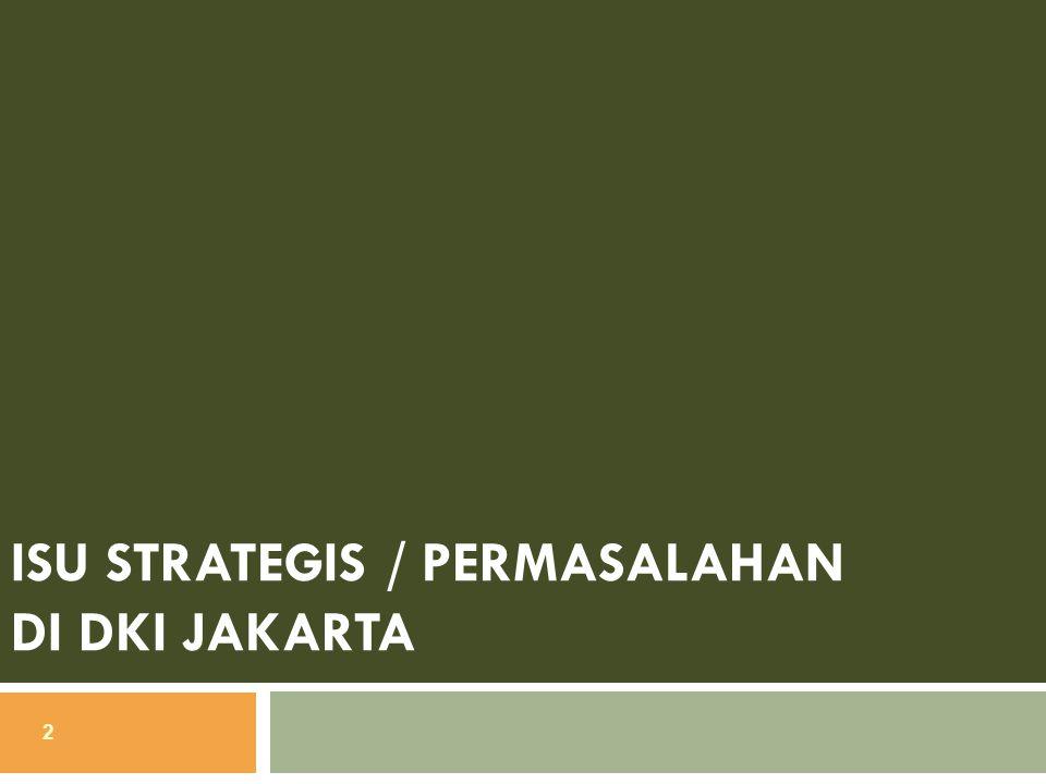 Isu Strategis / Permasalahan di DKI Jakarta