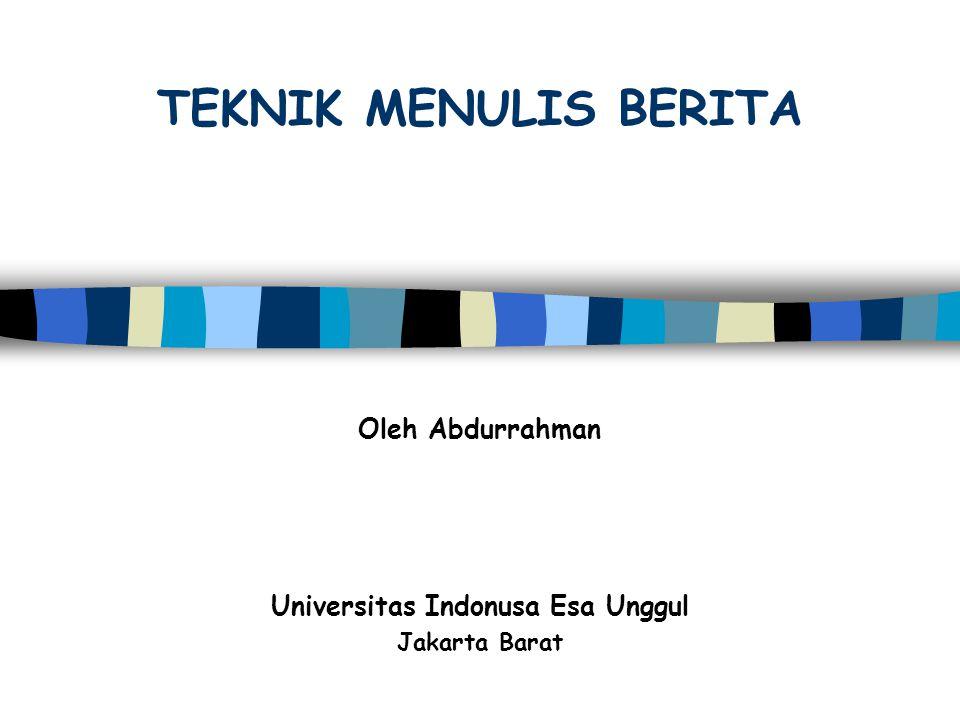 Oleh Abdurrahman Universitas Indonusa Esa Unggul Jakarta Barat