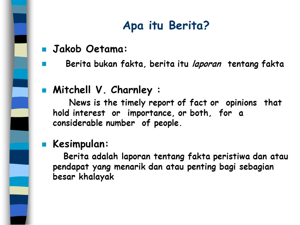 Apa itu Berita Jakob Oetama: