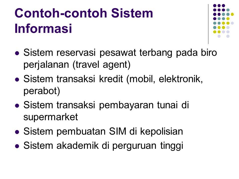 Contoh-contoh Sistem Informasi