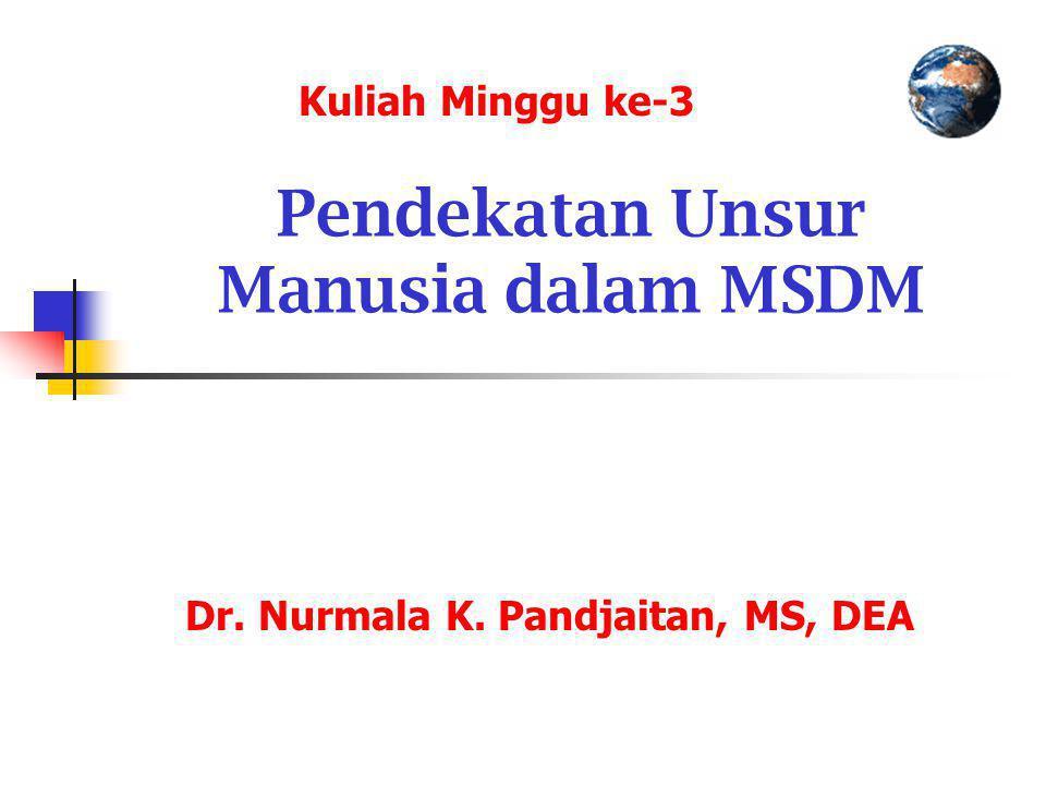 Pendekatan Unsur Manusia dalam MSDM