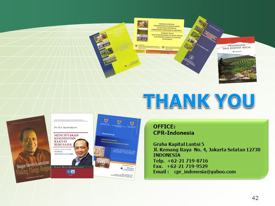 THANK YOU OFFICE: CPR-Indonesia Graha Kapital Lantai 5