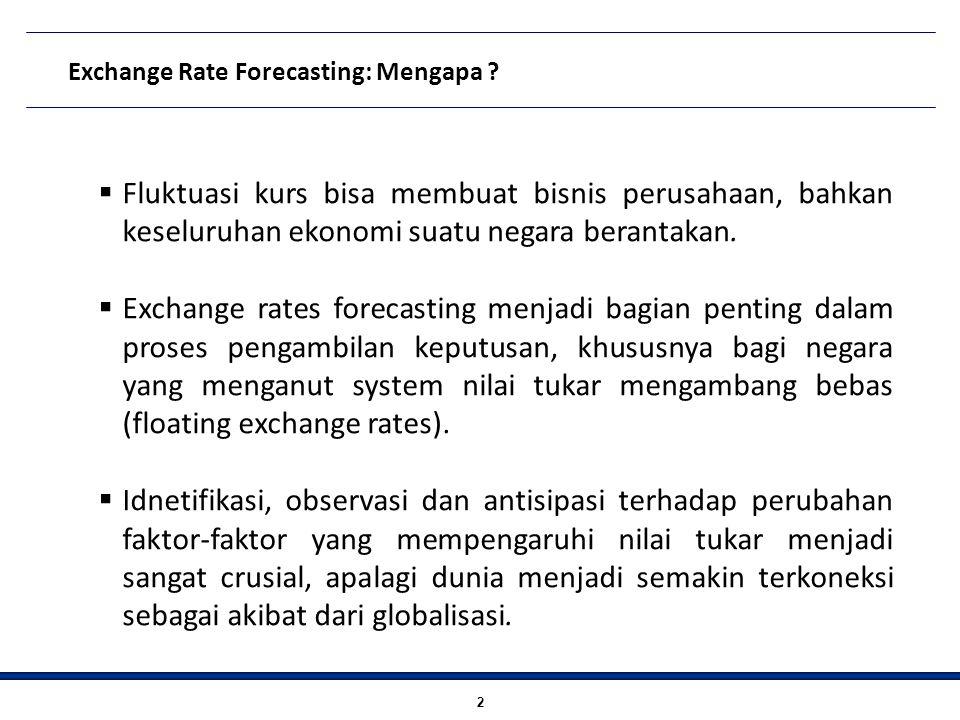 Exchange Rate Forecasting : Untuk apa