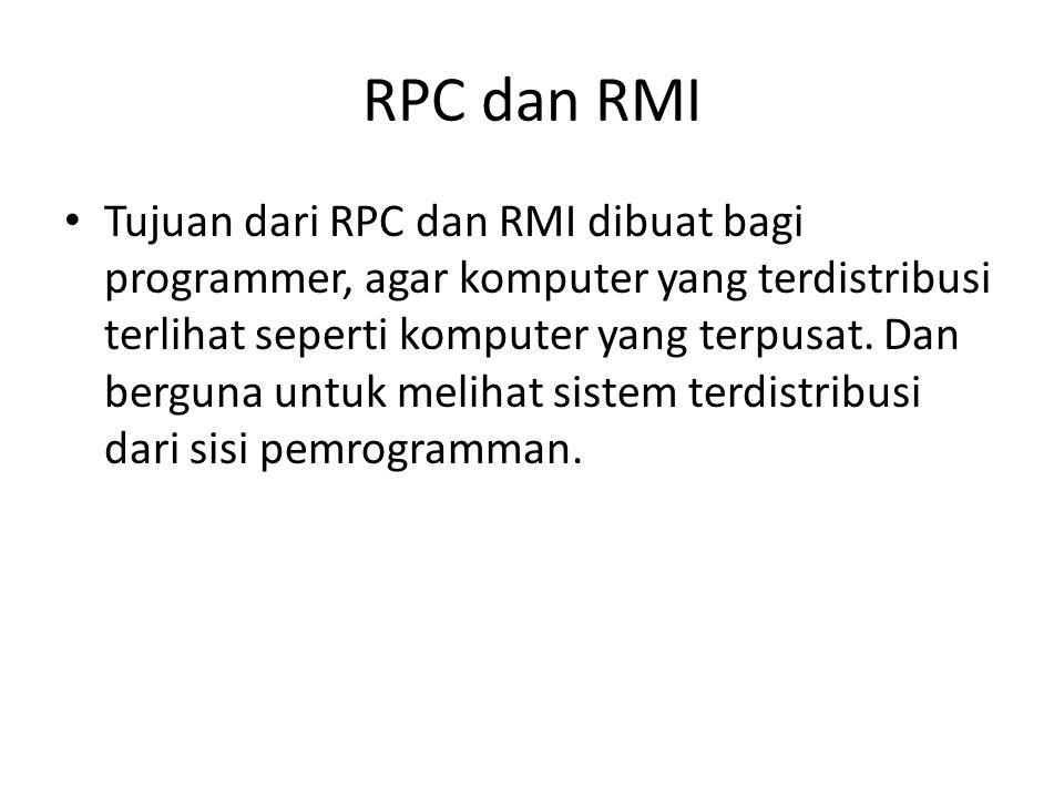 RPC dan RMI