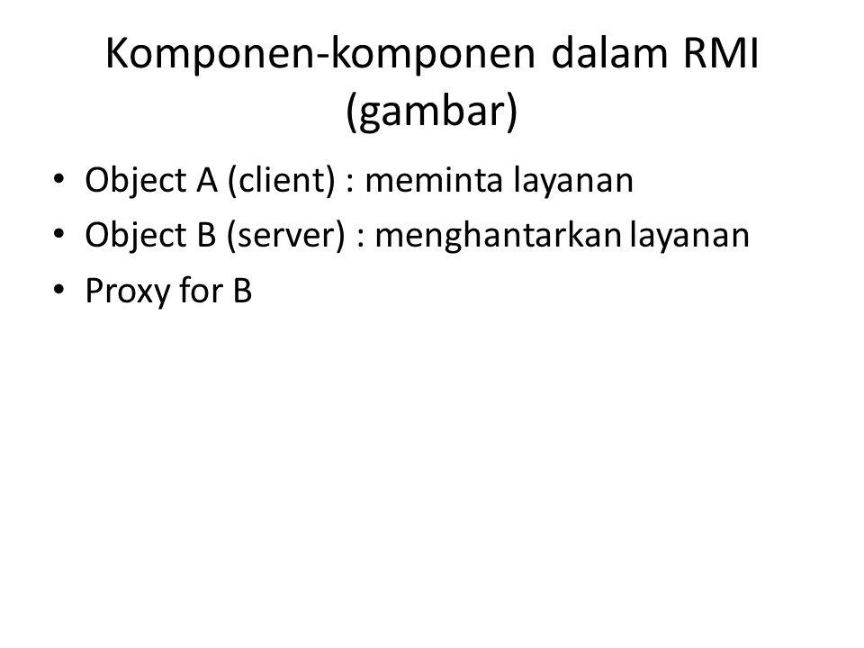 Komponen-komponen dalam RMI (gambar)