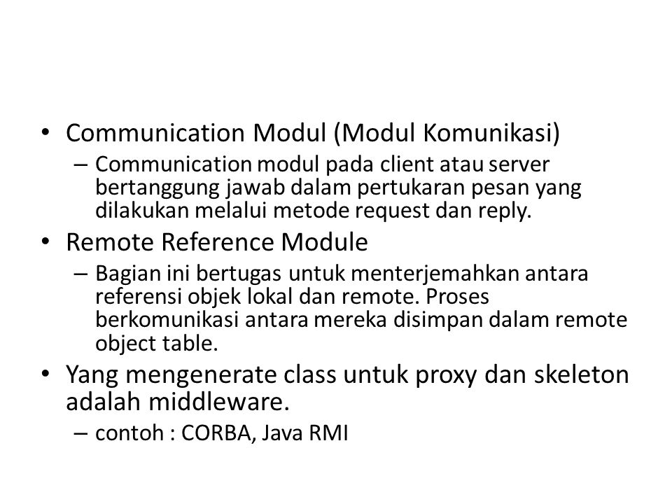 Communication Modul (Modul Komunikasi)