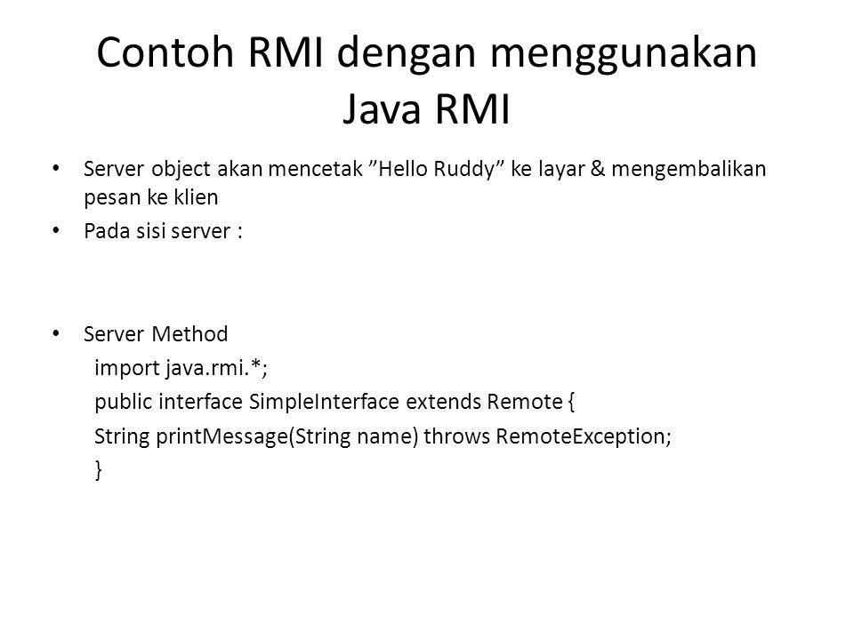Contoh RMI dengan menggunakan Java RMI