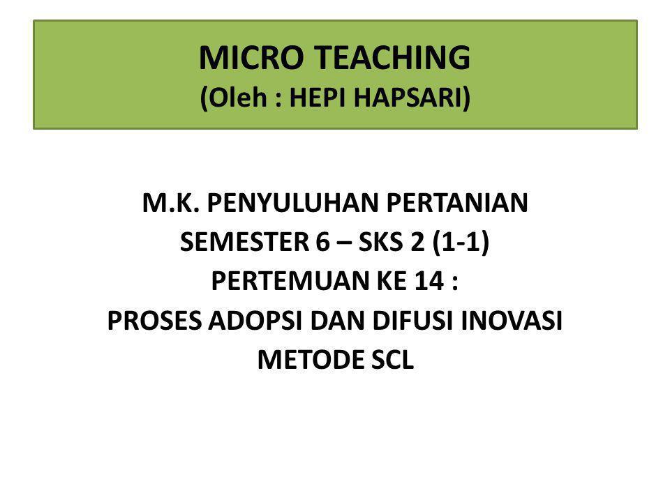 MICRO TEACHING (Oleh : HEPI HAPSARI)