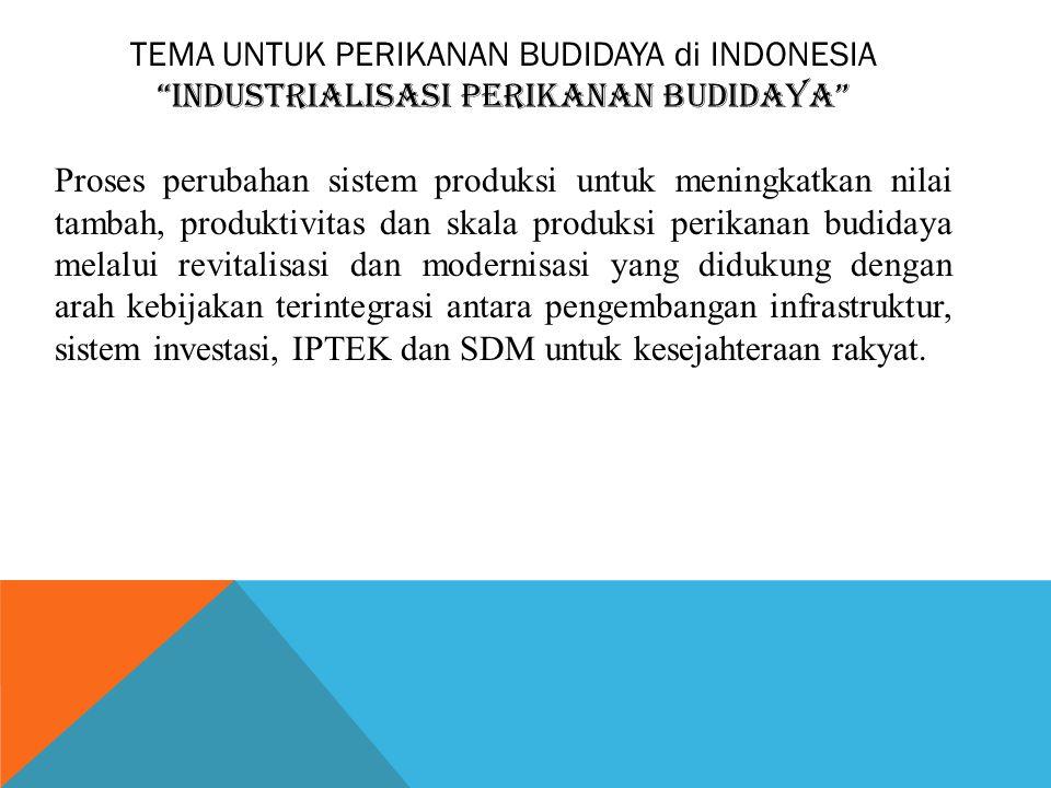 TEMA UNTUK PERIKANAN BUDIDAYA di INDONESIA