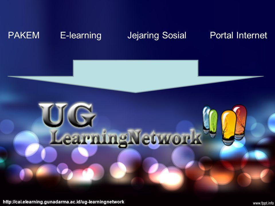 PAKEM E-learning Jejaring Sosial Portal Internet