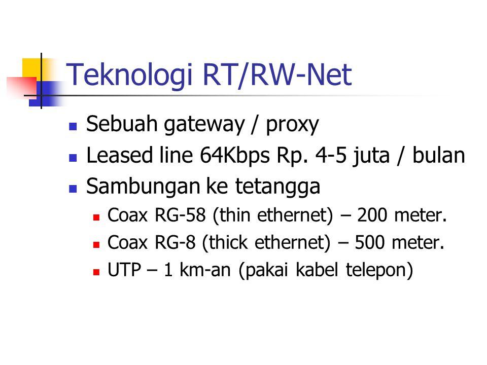 Teknologi RT/RW-Net Sebuah gateway / proxy